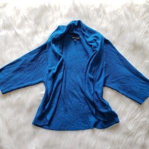 Cable & Gauge Royal Blue Open Cardigan XL